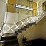 Ochranné sítě na schodišti RD 1/2, Roztoky u Prahy