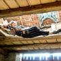 A hanging net in the atelier, Prilepov u Kostelce nad Vltavou