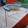 The railing in the family house terrace 2/2, Cernosice u Prahy