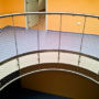 The rounded railing in the head office of ZZS 2/2, Pilsen